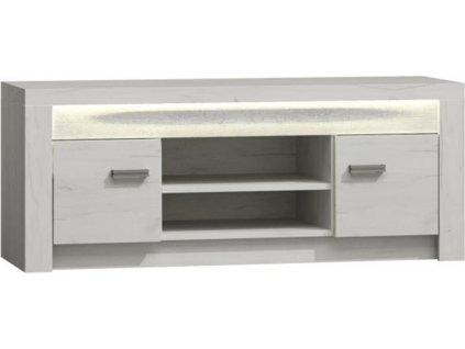 RTV stolek / skříňka, jasan bílý, INFINITY I-09