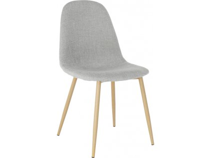 Moderní kuchyňská židle čalouněná s dřevěnou podnoží