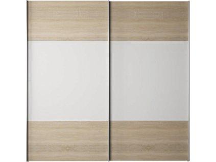 Skříň s posuvnými dveřmi, dub sonoma / bílá, GABRIELA