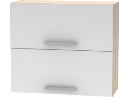 Horní výklopná skříňka 2DV, dub sonoma / bílá, NOPL-015-OH