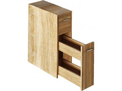 Koupelnová skříňka, dub sonoma, NATALI TYP 7