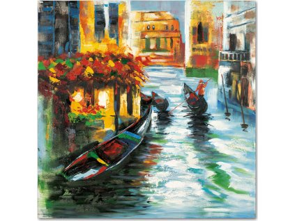 Obraz - Benátky, ruční olejomalba na plátně