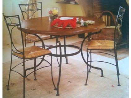 Kovaný stůl PROVENCE kruh