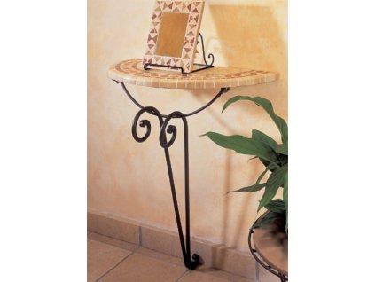 Kovaný stolek JAMAICA půlkruh