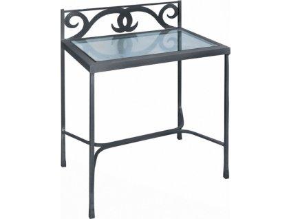 Noční stolek GRANADA se sklem