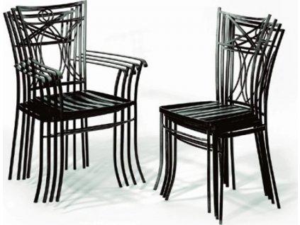 Kovová židle BRETAGNE