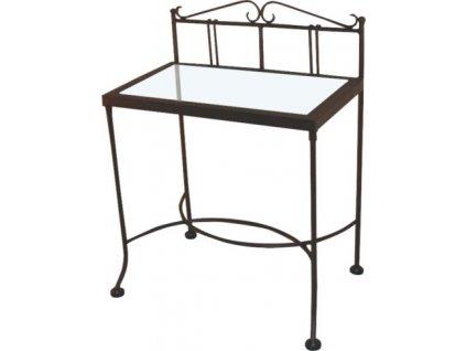 Noční stolek SARDEGNA se sklem