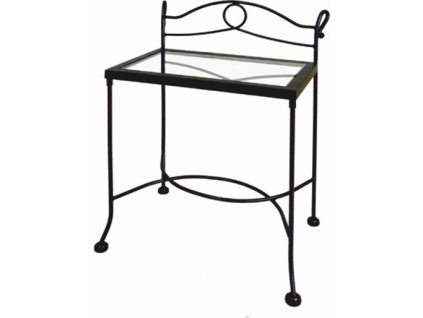 Noční stolek MODENA se sklem