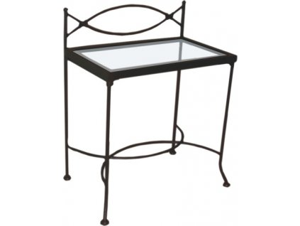 Noční stolek THOLEN se sklem