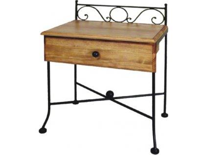Noční stolek ROMANTIC se zásuvkou