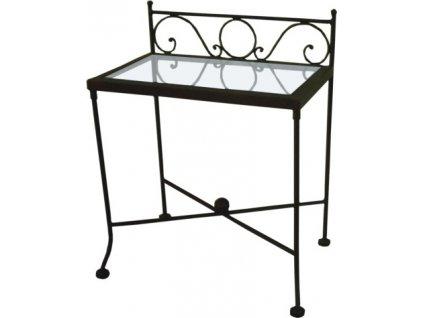 Noční stolek ROMANTIC se sklem