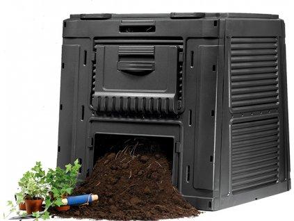 470l kompostér s podstavcem speciální pro super cirkulaci a zrychlený proces rozkladu