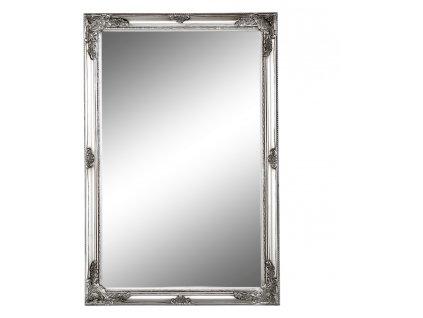 Zrcadlo v ozdobném stříbrném rámu