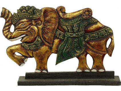 Panel slon dřevořezba