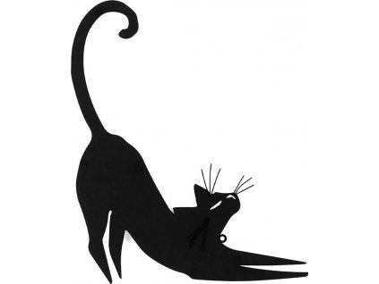 Nástěnný kovový obraz - kočka