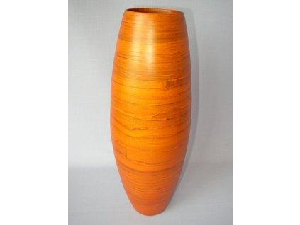 Dřevěná váza přírodní bambus