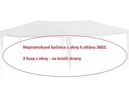 Bočnice k altánu 3602 - 2ks s okny - BÍLÉ