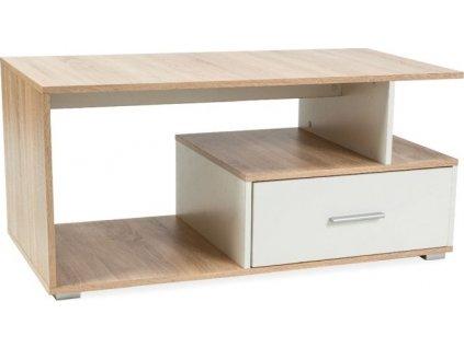 Konferenční stolek SIA dub sonoma/bílá