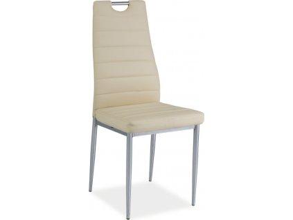 Jídelní čalouněná židle H-260 krémová/chrom