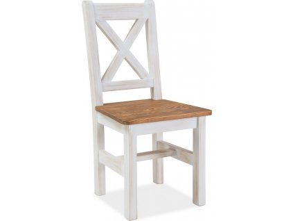 Židle Poprad borovice patina/hnědá