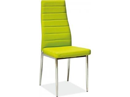 Jídelní čalouněná židle H-261 zelená