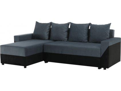 Univerzální sedací souprava, černá/šedá, TIPO