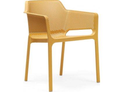 Záhradná stolička NET - Senape