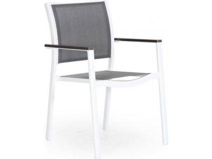 Záhradná stolička SCILLA - Biela so šedou
