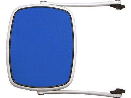 Slnečná clona pre lehátko - Biely rám' modrý výplet