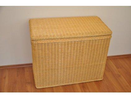 Ratanová prádelní truhla Axin medová