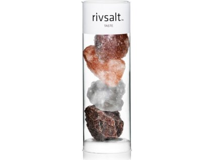 Exklusivní krystaly solí TASTE z celého světa pro slánku KITCHEN, velké 4ks - rivsalt