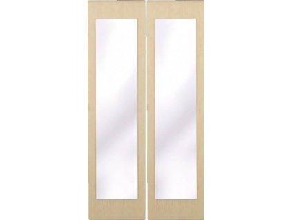 Posuvné dveře se zrcadlem ke skříni GRETA 2 ks dub Belfort