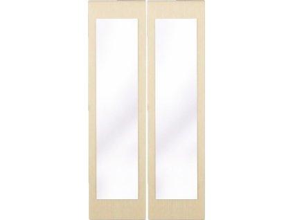Posuvné dveře se zrcadlem ke skříni GRETA 2 ks jasan světlý