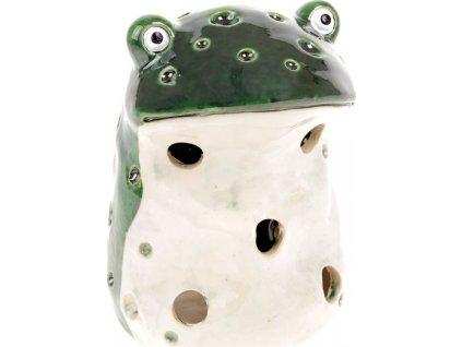 Žába, keramická dekorace na čajovou svíčku.