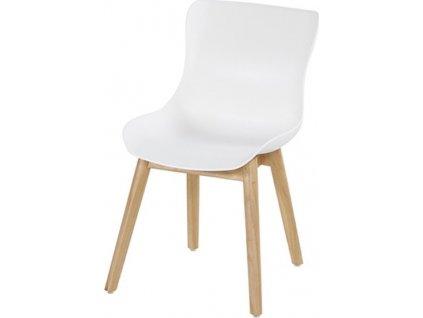Záhradná stolička SOPHIE TEAK - Biela