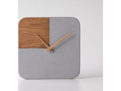 Betonové hodiny Toggle - Kohoutek Old Wood