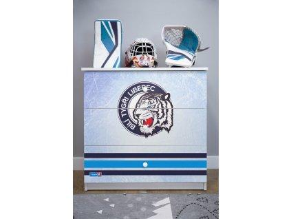 Dětská hokejová komoda - Bílí Tygři Liberec