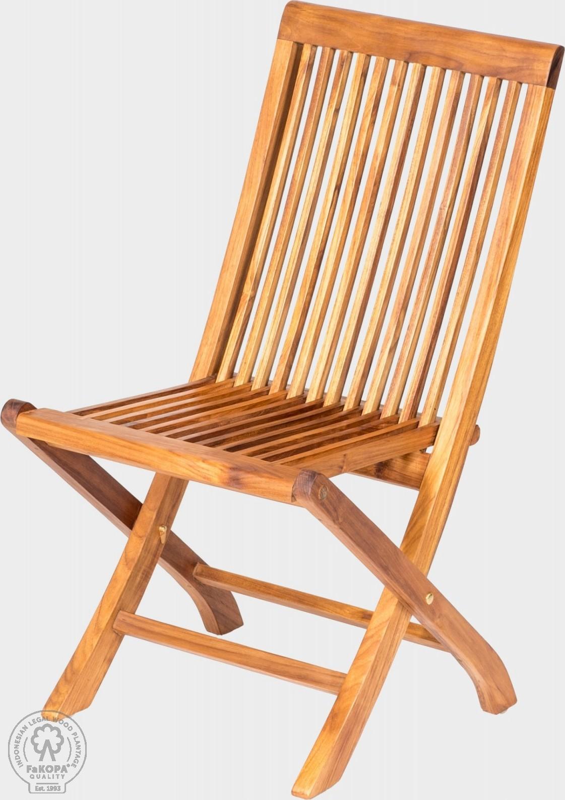FaKOPA Teaková skládací židle Emily