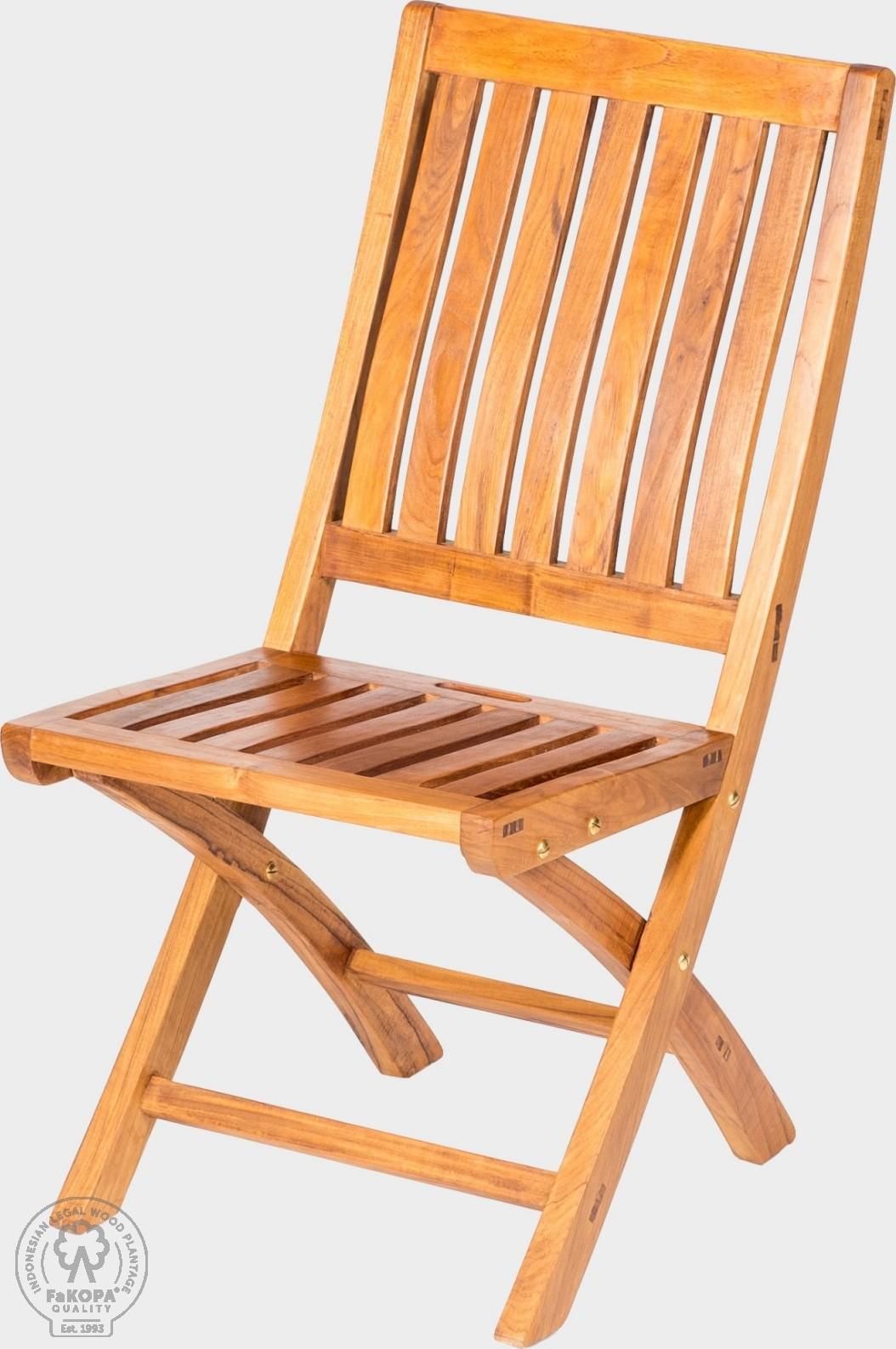 FaKOPA Teaková venkovní židle skládací Emma