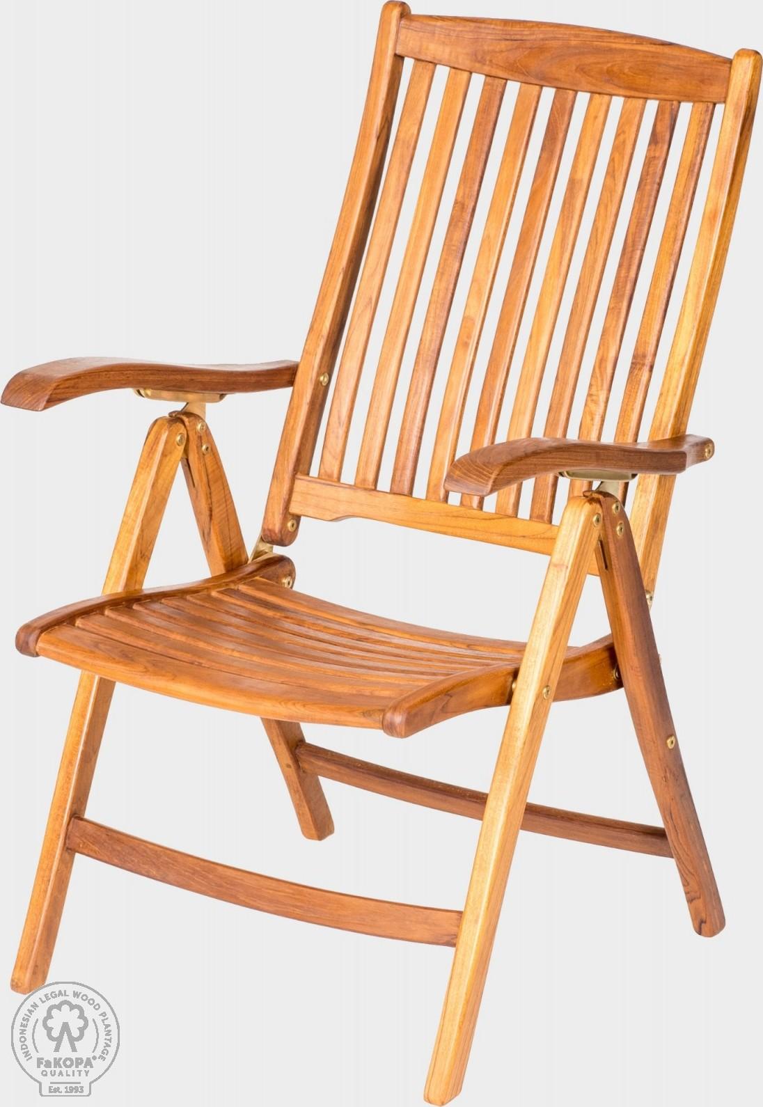 FaKOPA Masivní dřevěná židle na zahradu Luren