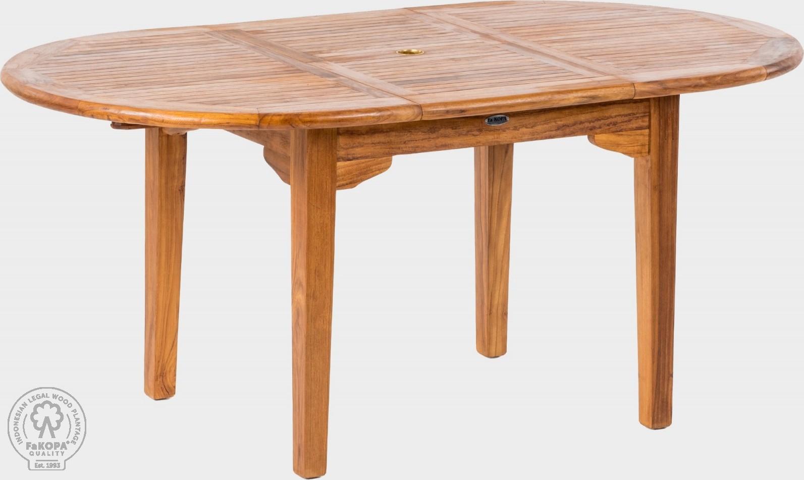 FaKOPA Oválný jídelní stůl z masivního dřeva pro venkovní použítí Chantelle