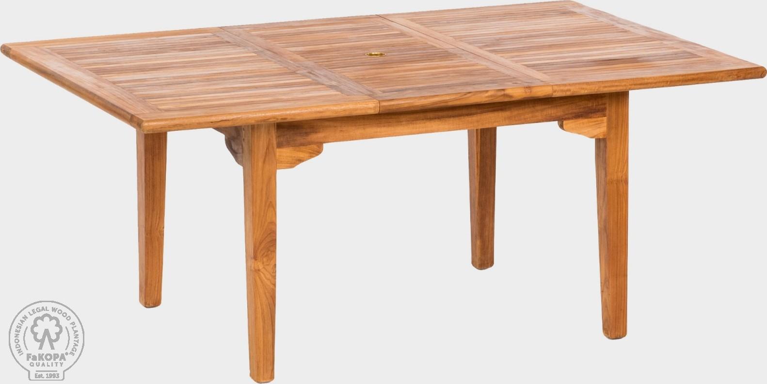 FaKOPA Jídelní stůl na terasu z masivního teaku Anna