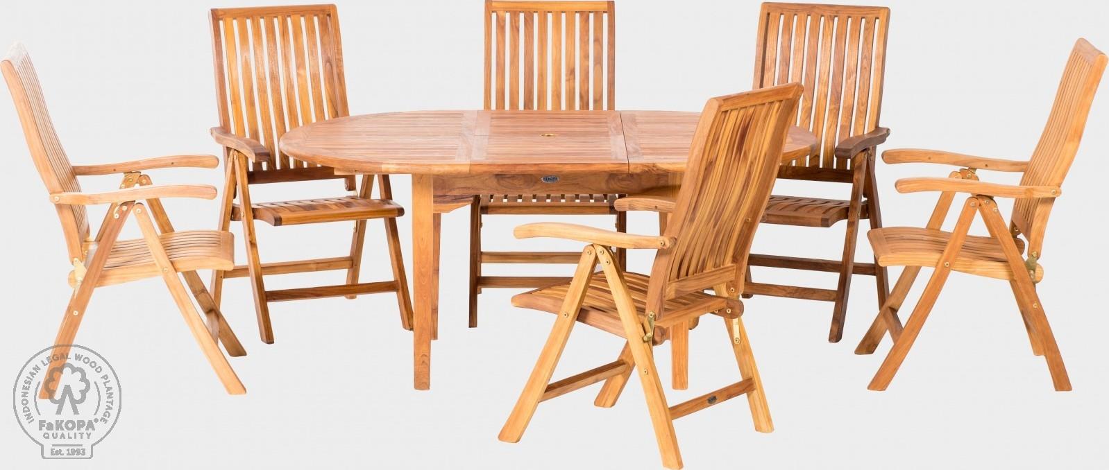 FaKOPA Venkovní sezení 6x skládací židle stůl Anfisa
