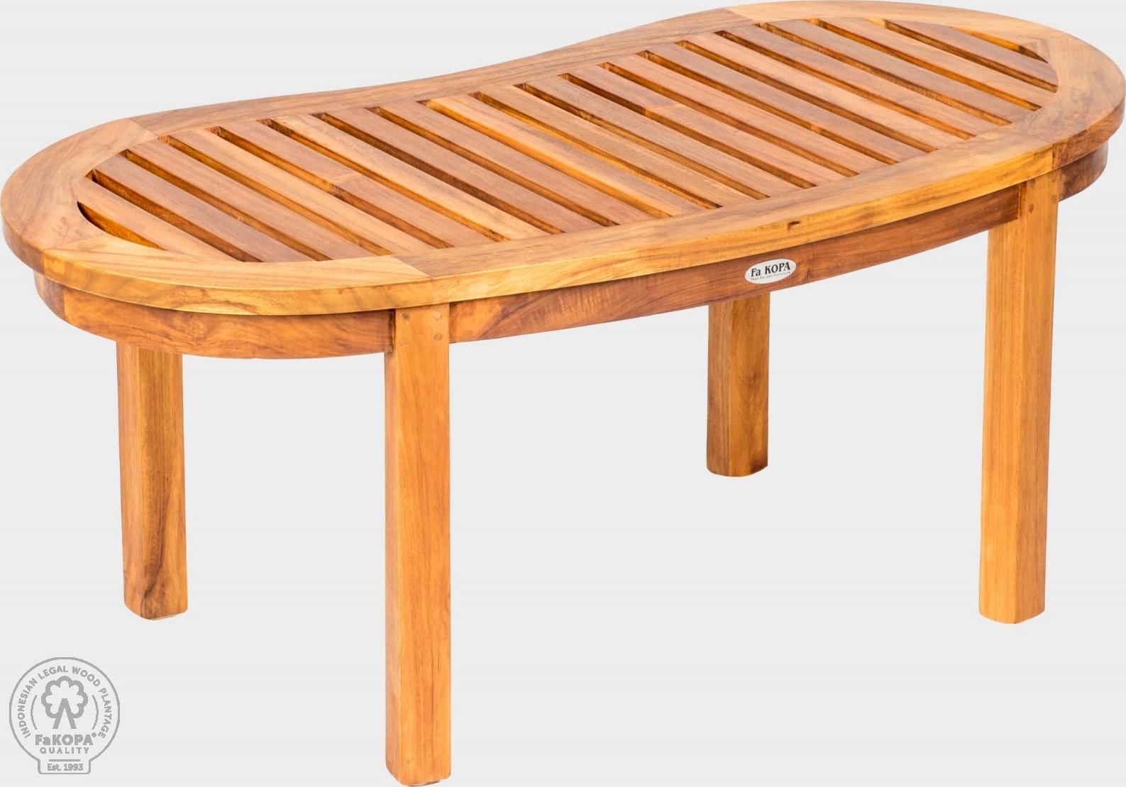 FaKOPA Oblouková lavice z masivního dřeva Zoya