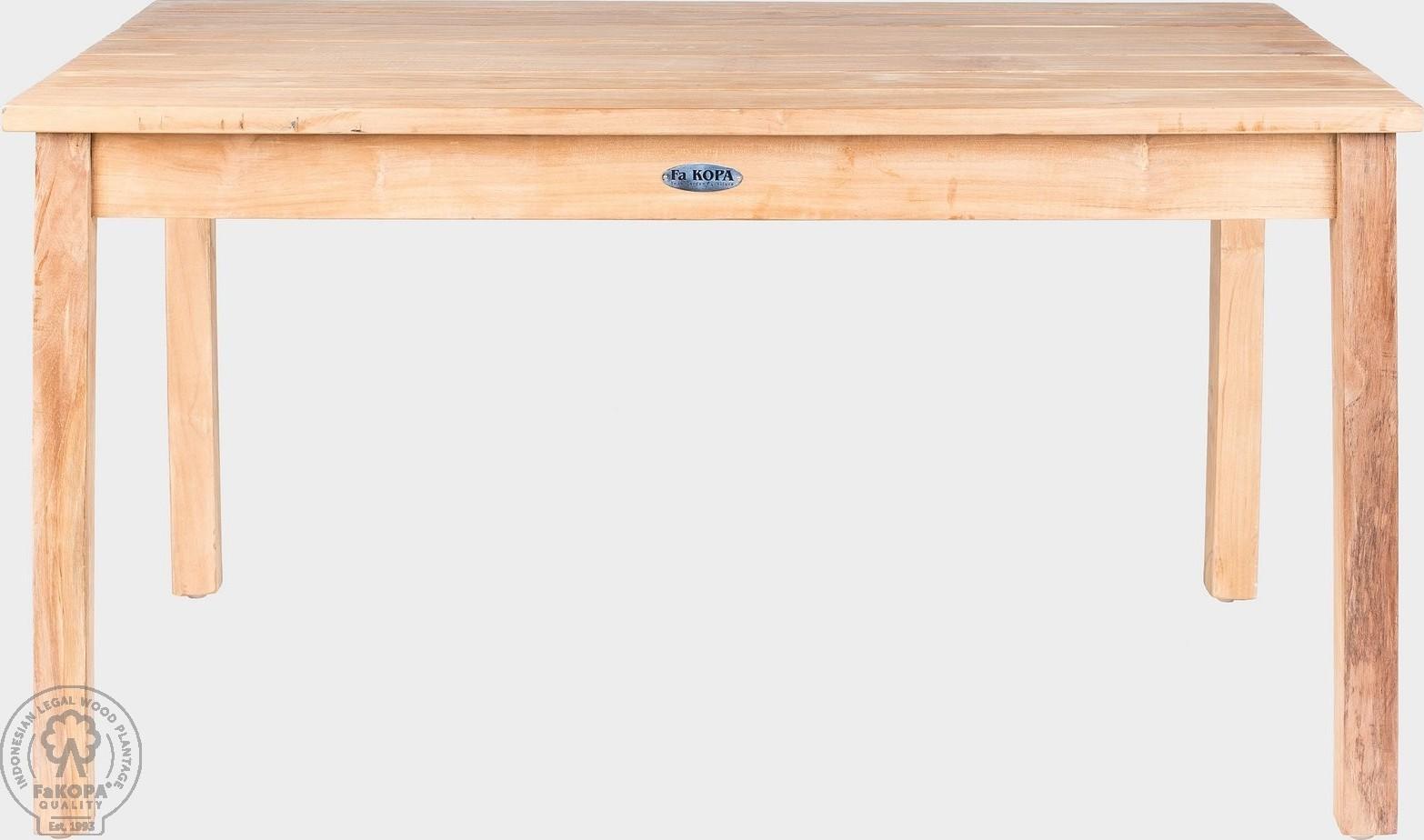 FaKOPA Masivní dřevěný stolek pro děti z teakového dřeva Nina