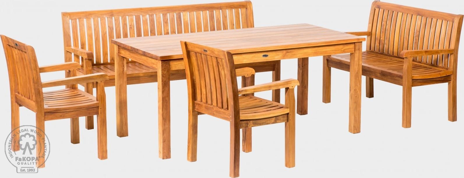 FaKOPA Luxusní venkovní sezení z kvalitního teakového dřeva Nonna