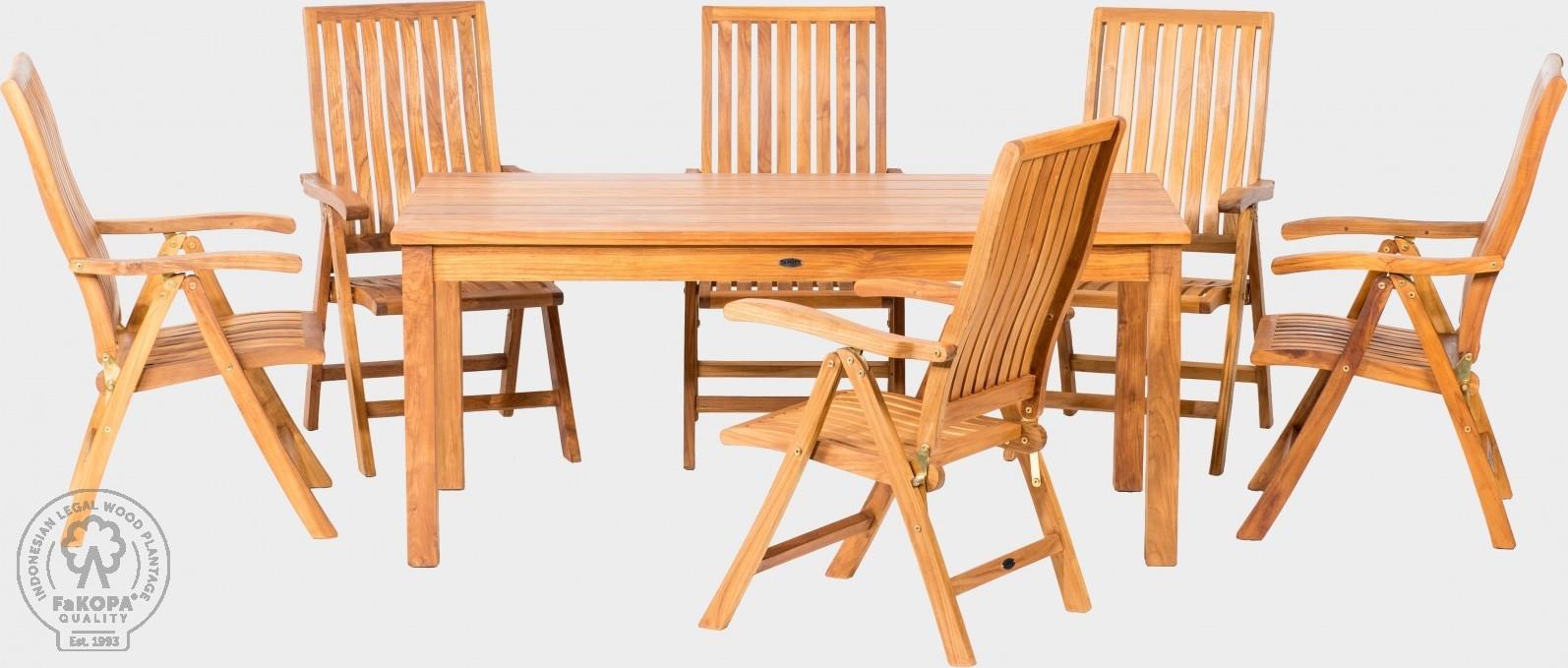 FaKOPA Venkovní set stůl židle Polina