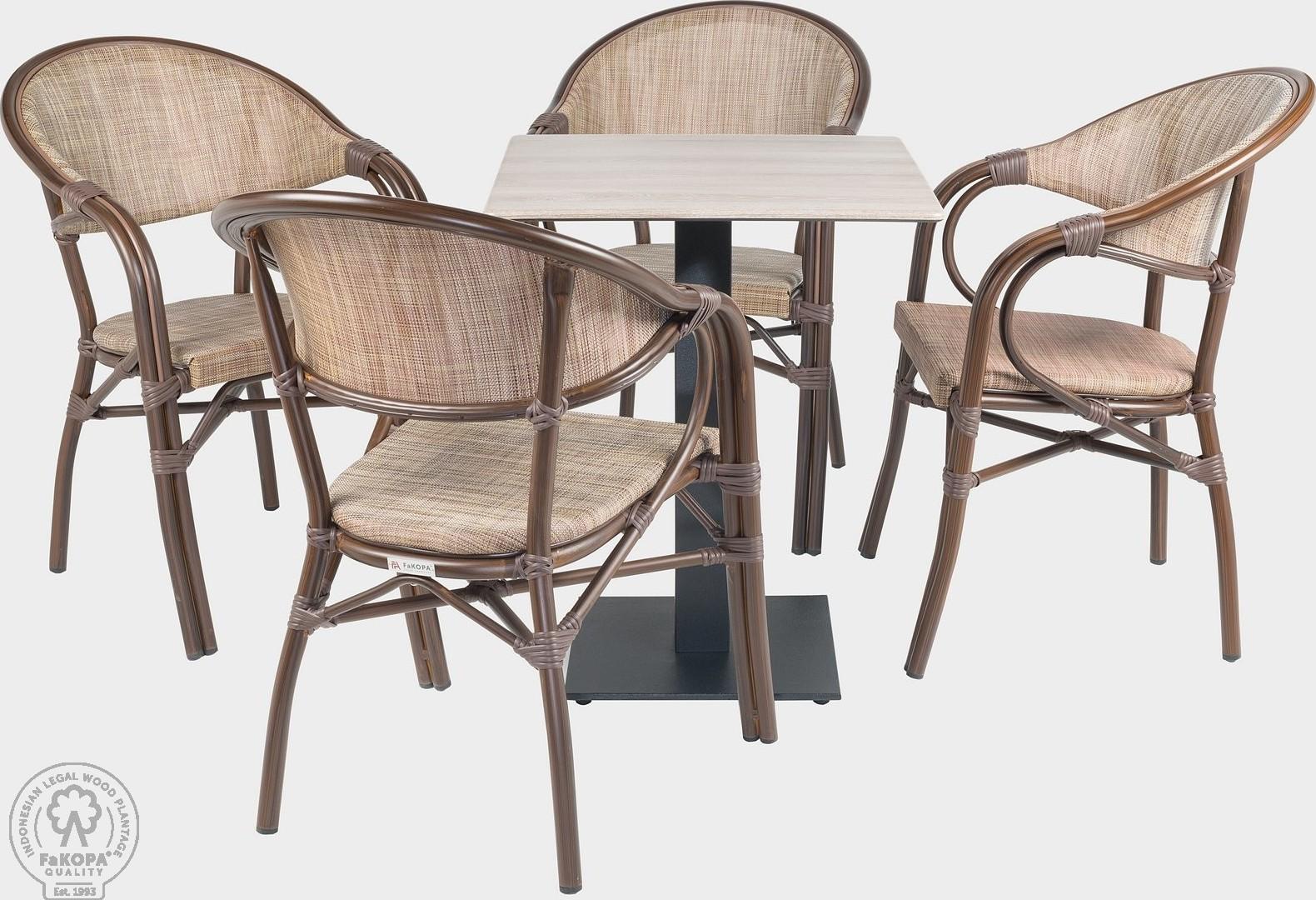 FaKOPA Venkovní set křesla stůl pro hotely a restaurace Liliana