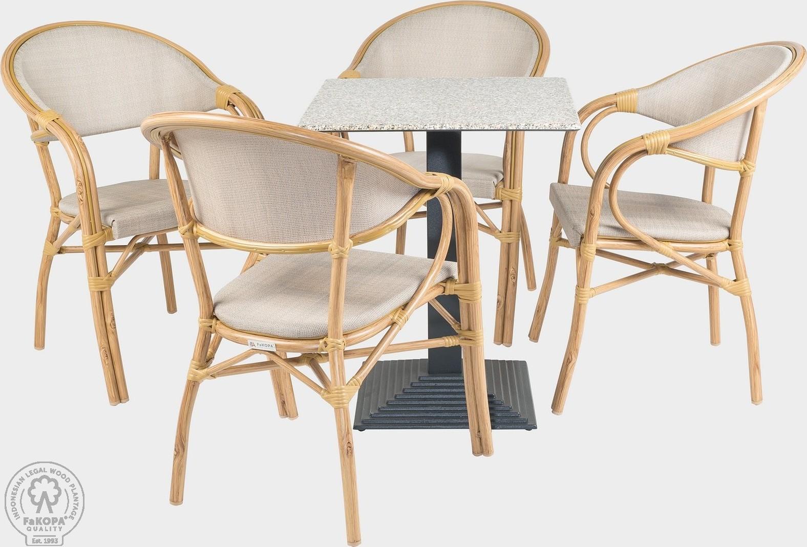 FaKOPA Sezení na terasy 4xkřeslo stůl Lisa
