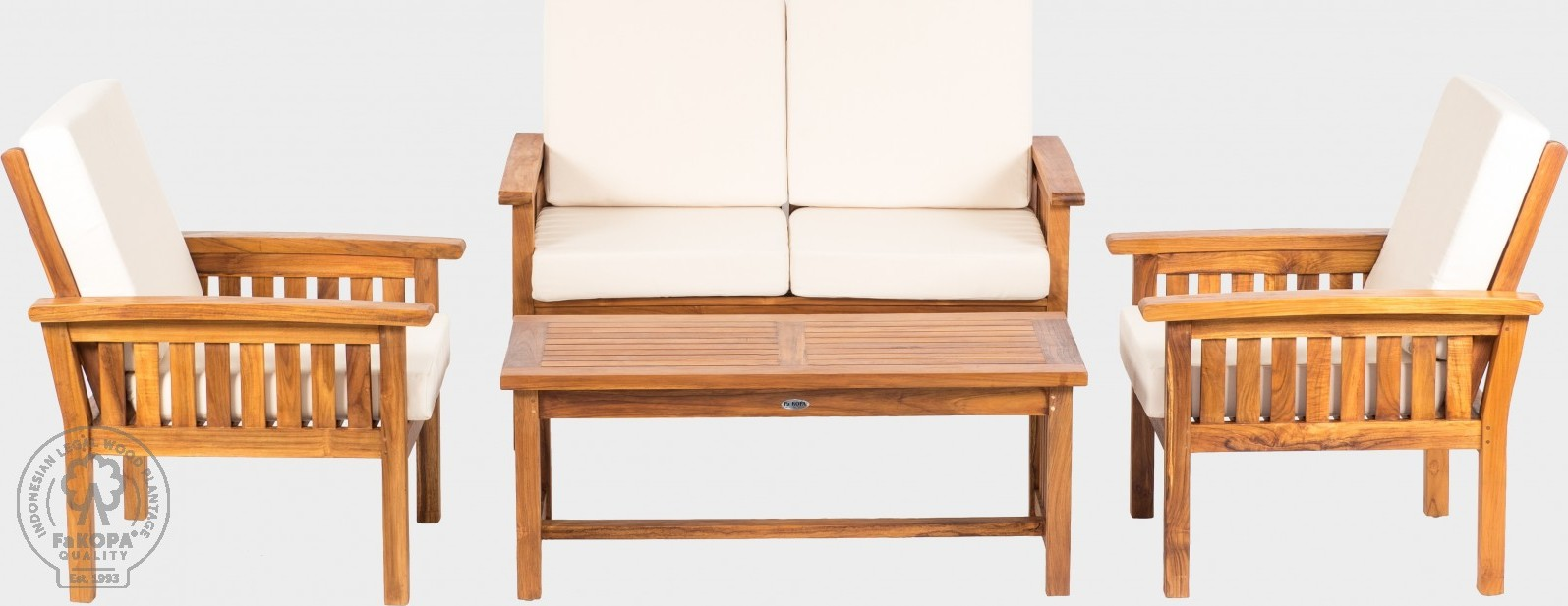 FaKOPA Konfereční stolek z teakového dřeva do interiéru i exteriéru Rita